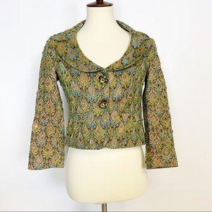 Nanette Lepore   Embellished Pattern Jewel Blazer